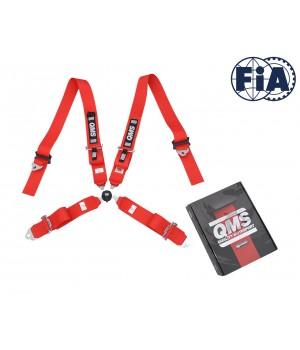 """Ремни безопасности FIA, QMS 3"""" (76мм), фаст лок"""